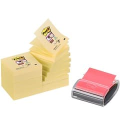 3M Z-Note Dispenser 76 x 76 mm Yellow 16 Pieces of 90 Sheets