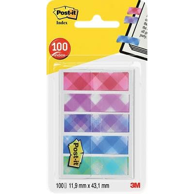 Post-it Index Flags 684 Assorted 11.9 x 43.2 mm 20 Strips