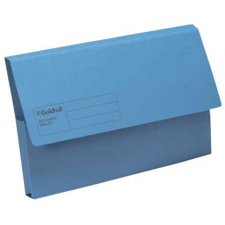 Guildhall Document Wallets GDW1 Foolscap Blue manila 50 pieces