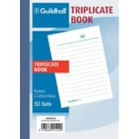 Exacompta Triplicate Book 1510TLZ A6 perforated 50 sheets