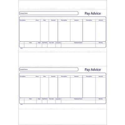 Exacompta Payslips 291Z A4 500 sheets Pack of 1000