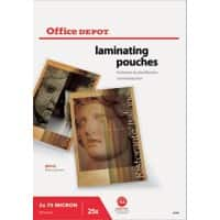 Office Depot Laminating Pouches Glossy 150 Microns A3 25 Pieces