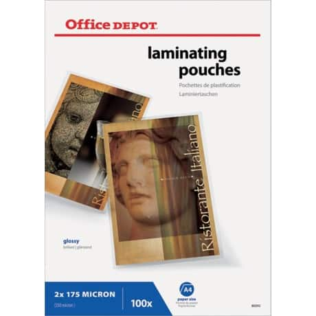 Office Depot Laminating Pouches glossy 350 microns A4 100 pieces