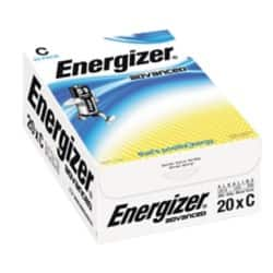 Energizer Batteries Advanced C 20 batteries 20 batteries