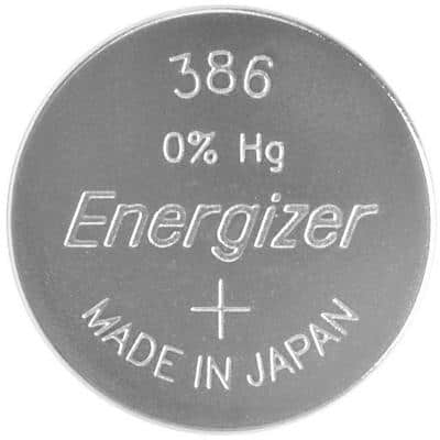 Energizer Button Cell Batteries 386/301 SR43 1.5V Silver Oxide