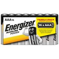 Energizer AAA Alkaline Batteries Power LR03 1.5V Pack of 16