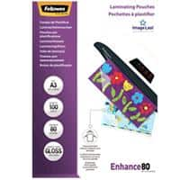 Fellowes Laminating Pouches Glossy 2 x 80 (160 Micron) A3 Pack of 100