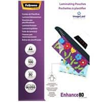 Fellowes Laminating Pouches Glossy 2 x 80 (160 Micron) A4 Pack of 100