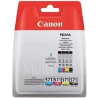Canon CLI-571C/M/Y/BK Original Ink Cartridge Black & 3 Colours Pack of 4