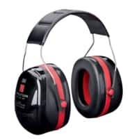 3M Ear Defenders XH001650833-EA Foam Black, Red