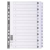 Guildhall Numerical Dividers MWD1-15Z A4 White 15 tabs paper 1 to 15