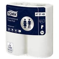 Tork Toilet Rolls Conventional 2 Ply 4 Rolls of 200 Sheets