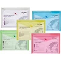 Snopake Document Wallet A4+ Assorted Polypropylene 33 x 22.5 cm