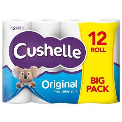 Cushelle Toilet Rolls Comfort 2 Ply 12 Rolls of 180 Sheets