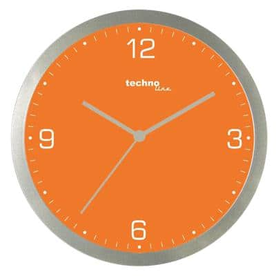 TechnoLine Analog Wall Clock WT 9000 30 x 3.3cm Orange
