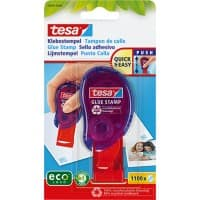 tesa Glue Stamp ecoLogo 99mm x 8.5m Blue & Red Low Odour