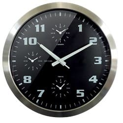 Orium by CEP Wall Clock World time Silver