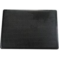 Floortex Floor Mat Anti fatigue Black 1,200 x 900 mm