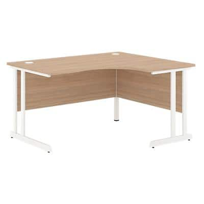 Right Hand Corner Desk Optima C Oak 1,600 x 1,200 x 720 mm