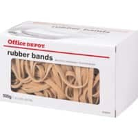 Office Depot Rubber Bands 6 x 90mm Ø 57mm Natural 500g