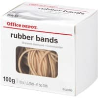 Office Depot Rubber Bands Natural 80 x 1.5 mm Ø 50 mm 100 g