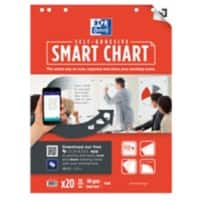 OXFORD Flipchart Pad Smart Chart A1 90gsm Plain 3 Pieces of 20 Sheets