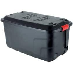 Foray Storage Box 145 L Black plastic 45 x 52 x 94 cm