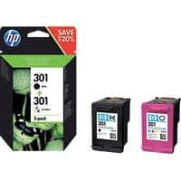 HP 301 Original Ink Cartridge N9J72AE Black, Cyan, Magenta, Yellow 2 Pieces