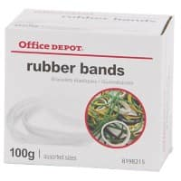 Office Depot Rubber Bands 1.5 x 120mm Ø 120mm Assorted 100g