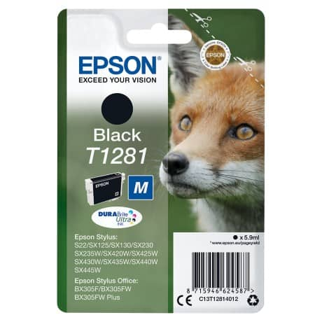 Epson T1281 Original Ink Cartridge C13T12814012 Black