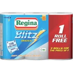 Regina Kitchen Roll Blitz 3 ply 3 rolls of 70 sheets