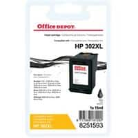Office Depot Compatible HP 302XL Ink Cartridge F6U68AE Black