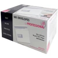 PROFESSIONAL Envelopes C5 90gsm White Window Flap 500 Pieces