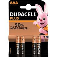 Duracell AAA Alkaline Batteries Plus Power MN2400 LR03 1.5V 4 Pieces