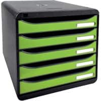Exacompta Drawer Unit Big-Box Polystyrene Black, Green 27.8 x 34.7 x 27.1 cm