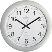 Acctim Wall Clock Radio Controlled  30 x 3 cm Silver