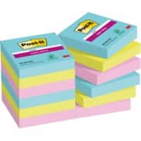 Post-it Super Sticky Notes 48 x 48 mm Assorted 12 Pieces of 90 Sheets