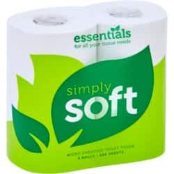 essentials Toilet Paper Simply-Soft 2 Ply 36 Rolls of 200 Sheets