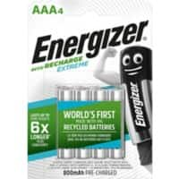 Energizer Batteries Recharge Extreme AAA 4 pieces