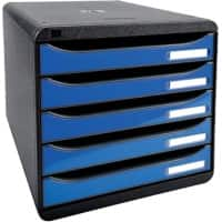 Exacompta Drawer Unit Big-Box A4 43 mm Black, Blue 27.8 x 34.7 x 27.1 cm