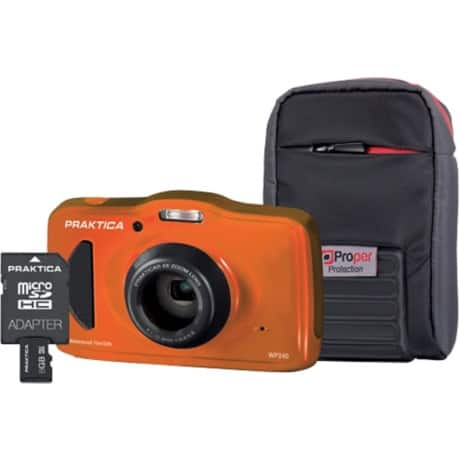 "Praktica Waterproof Camera and Kit WP240 20MP 1/2.3"" CCD 5152 x 3864pixels 20 megapixel"