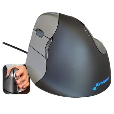 BakkerElkhuizen Optical Mouse Evoluent4 Left Black, Grey