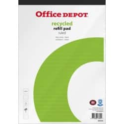 Office Depot Refill Pad White, Green Ruled micro perforated A4+ 29.5 x 21 cm Pack 5