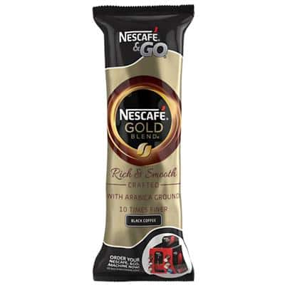 NESCAFÉ & Go Gold Blend Rich & Smooth Instant Ground Coffee Sachets 7.2g 8 Pieces