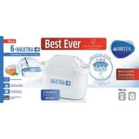 BRITA Filter Cartridges MAXTRA + White Pack of 6