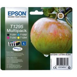 Epson T1295 Original Ink Cartridge C13T12954012 Black & 3 Colours 4 pieces