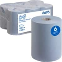 Scott Hand Towels 6696 1 Ply Rolled Blue 6 Rolls