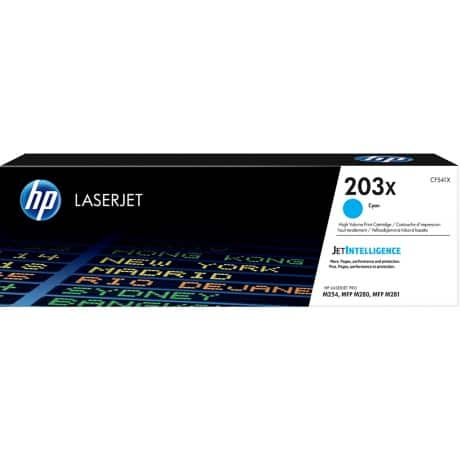 HP 203X Original Toner Cartridge CF541X Cyan