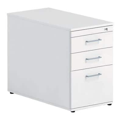 Desk High Pedestal PSS637 White 415 x 800 x 720 mm