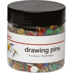 Office Depot Drawing Pins Assorted 1000 Pieces